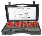 Product image for 11 piece maintenance hole saw kit
