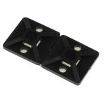 Product image for Black s/adhesive c/tie base, 19x19mm