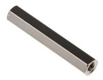 Product image for Brass F-F threaded hex spacer,M3x30mm