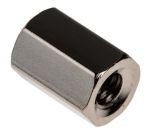 Product image for Brass tapped hole hex spacer,M4x10mm