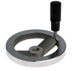 Product image for Handwheel,2-spoked,aluminium,125mm dia.