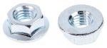 Product image for Zinc plated steel plain flange nut,M5