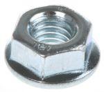 Product image for Zinc plated steel plain flange nut,M6