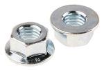 Product image for Zinc plated steel plain flange nut,M10
