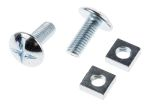 Product image for Zn plated steel roofing bolt&nut,M8x20mm