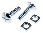 Product image for Zn plated steel roofing bolt&nut,M8x30mm