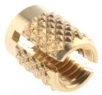 Product image for Brass push in expansion insert,M3.5flush