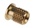 Product image for Brass push in expansion insert,M4 flange