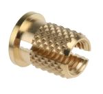 Product image for Brass push in expansion insert,M5 flange