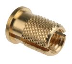 Product image for Brass push in expansion insert,M6 flange