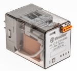 Product image for DPDT relay w/test button,10A 230Vac coil
