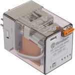 Product image for 3PDT relay w/test button,10A 230Vac coil