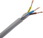 Product image for Grey 3core CY control cable,1.5sq.mm100m