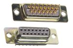 Product image for 15way straight PCB mount D skt,5A 750Vac