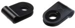 Product image for Black Nylon P-clip, 3.2mm Bundle Dia