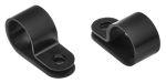 Product image for Black Nylon P-clip, 12.5mm Bundle Dia