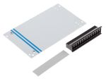 Product image for Std aluminium card front panel,3Ux14HP