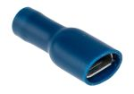 Product image for Blue crimp shrouded receptacle 6.3/0.8mm