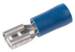 Product image for Blue crimp female receptacle,0.187in/A