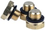Product image for Brass threaded blanking plug,G1/8