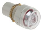 Product image for Red/blk panel mount pneumatic indicator