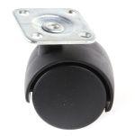 Product image for 2 wheel nylon castor,40 dia,plate fixing