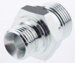 Product image for 1/2x3/4in BSPP M-M steel union adaptor