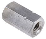 Product image for S/steel hex connecting nut,M6x18mm