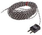 Product image for Type J IEC 1/0.2mm Thermocouple+Plug 10m