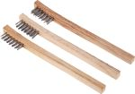 Product image for Wooden angled brush with s/steel bristle