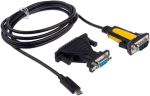 Product image for RS Pro Conv. USB Type C to Serial 1.8m
