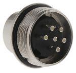Product image for 6 way IP67 DIN panel mount plug,5A 250V
