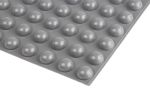 Product image for Grey stick on , 9.6mm H x 17.8mm Dia