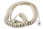 Product image for Oatmeal coiled handset lead,2.5m