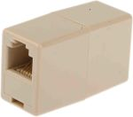 Product image for Beige 6way straight through RJ11 coupler