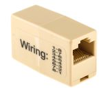 Product image for Beige 8way(1-8 pin)RJ45 rollover coupler
