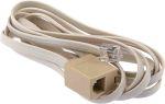 Product image for Beige 6 way RJ11 plug to skt extender,2m