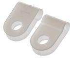 Product image for Natural Nylon P-clip, 3.2mm Bundle Dia