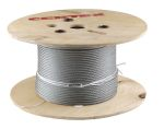 Product image for Galvanised wire rope,4mm dia x75m length