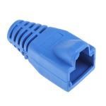 Product image for Blue strain relief hood for RJ45 plug