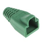 Product image for Green strain relief hood for RJ45 plug