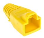 Product image for Yellow strain relief hood for RJ45 plug