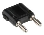 Product image for Black 2 banana plug w/connecting bridge