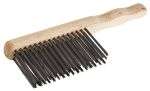 Product image for 3row steel wire machinery cleaning brush