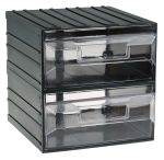Product image for 2draws clr storagecabinet,222x208x208mm