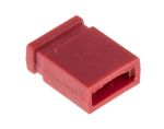 Product image for Red 2 way closed shorting link,2.54mm