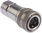 Product image for 1/4in BSPP quick action s/steel coupling