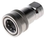 Product image for 1/2in BSPP quick action s/steel coupling