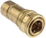 Product image for 1/4in BSPP quick action brass coupling