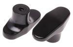 Product image for Black plastic female tee handle grip,M6